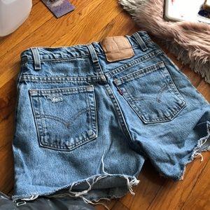 Vintage Levi's cutoff festival shorts size 5